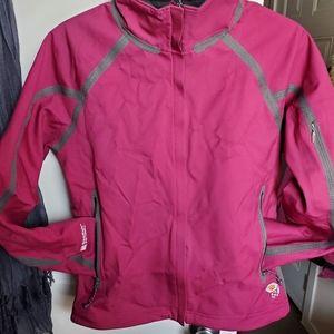Mountain Hardware, soft shell, fleece lined jacket